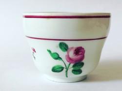 Rózsás Altwien bécsi porcelán csésze