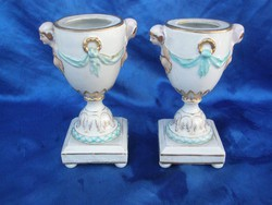 Antik KPM porcelán serlegváza pár