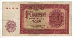50 márka 1955 Németország ZA sorszám! Ritka