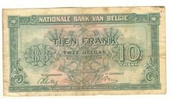 10 frank francs 1943 Belgium