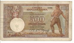 500 dinár 1942 Szerbia