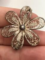 Gyönyörű régi ezüst bross