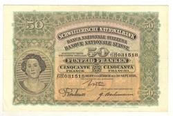50 frank franken 1926 Svájc