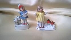 Antik Porcelán kislány