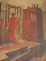 Widder Félix Bódog (1874-1939): Nő az ablak előtt