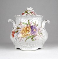 0Y380 Antik barokkos porcelán cukortartó edény