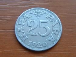 SZERB HORVÁT SZLOVÉN KIRÁLYSÁG 25 PARA 1920 #