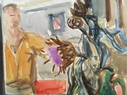 Eredeti Bíró Ákos festmény