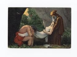Gyönyörű antik Stengel művész képeslap 1916