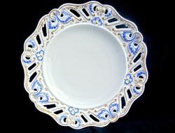 Alt wien, áttört szélű porcelán tányér 1824
