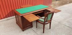 Szecessziós íróasztal eredeti karosszékével...restaurálva./180×90/