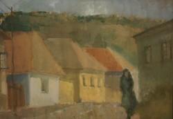 Ismeretlen festő (20.sz. közepe) : Utcán