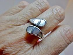 Meseszép  gyöngyház ezüst gyűrű