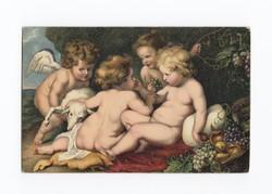 Gyönyörű antik Stengel művész képeslap posta tiszta