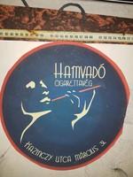 Az utolsó cigizős buli, aztán betiltották, nem tudom, melyik év volt... plakátféle, 25 cm átmérőjű,