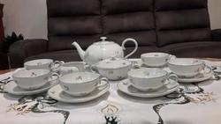 Art deco bohemia kézi festett teás készlet