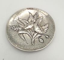 Karácsonyra!!Ezüst tálka növényi ornamentikával