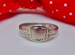 Szépséges  antik ezüst kisujj gyűrű
