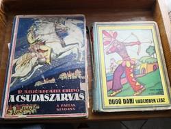 A csudaszarvas +dugó Dani vadember lesz című régi ifjúsági könyvek egybe eladók!