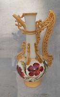 Zsolnay jellegű 19 sz. Csodálatos 40 cm magas majolika.