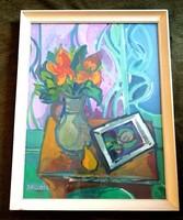 Dallos Lívia Gyönyörű csendélet képcsarnokos festmény