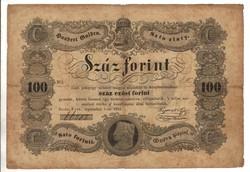 100 Száz forint 1848 Kossuth bankó 5. Eredeti állapot