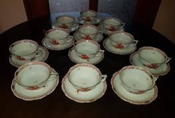 6 személyes Herendi apponyi orange - UTASELLÁTÓ - teás készlet (6 csésze és 6 csésze alj)