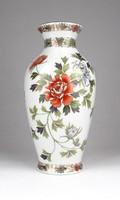 0Y419 Kyoto aranyozott japán porcelán váza 21 cm
