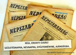 1979 november 2  /  NÉPSZABADSÁG  /  SZÜLETÉSNAPRA RÉGI EREDETI ÚJSÁG Szs.:  5864