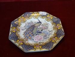 Japán süteményes tányér fácán mintával, átmérője 15,5 cm.