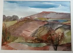 Lieber Éva Őszi domb képcsarnokos festmény