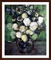Az Impresszionizmus kedvelőinek - Csendélet ( 43 x 52, olaj )