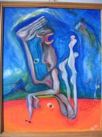 Szürrealista festmény (szignózott)