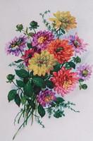 Régi képeslap virágos üdvözlőlap 1940 körül