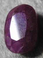 Ovális fazettált rubin drágakő 13,5 ct