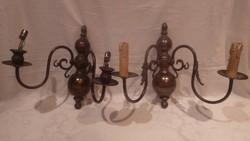 Bronz falikar fali lámpa pár