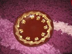 Kerámia  tányér,  24 cm, 122. ritka színvilágú