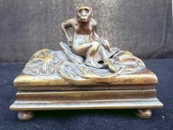 Jugendstil bronz szobor miniatúra