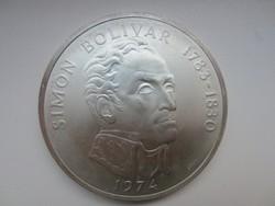 Simon Bolivar Balboas Panama 0.925 ezüst érme 1974 130gr
