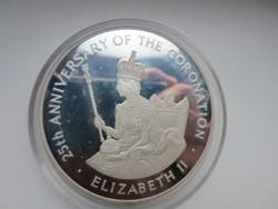 20dollar Jamaika Elizabeth királynő 0.925 ezüst érme 1978 136gr PP