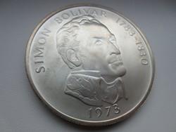 Simon Bolivar Balboas Panama 0.925 ezüst érme 1973 130gr