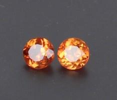 Természetes ceylon  narancs zafír pár VVS1