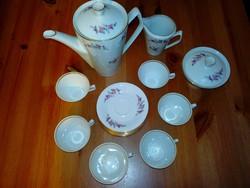 17 részes porcelán kávéskészlet