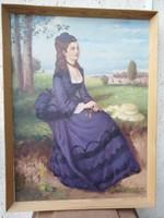 Olaj vászon festmény 82X62cm