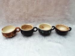 Mázas cserép csészék