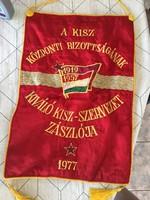 KISZ Komunista nagy  zaszlo,33 x 48 cm