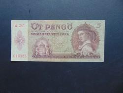 5 pengő 1939 A 241