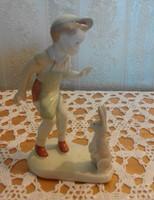 Kisfiú nyuszival, Aquincum porcelán