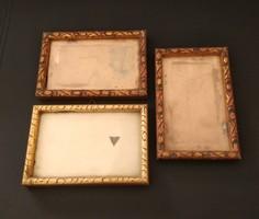 3 db antik, fali, üvegezett fényképkeret, képkeret, fotókeret egyben eladó