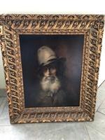F01 Antik 200 éves portré olaj-vászon nagyon élethű ritka darab